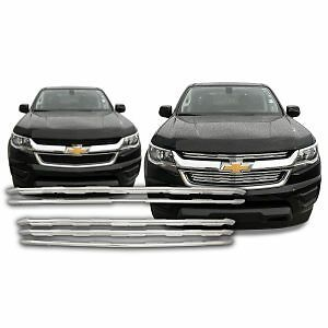Free Shipping 2015 2019 Chevy Colorado Chrome Snap On Grille Overlay 130