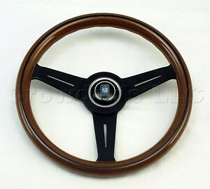 Nardi Steering Wheel Classic Wood With Black Spokes 330 Mm New 5061 33 2000