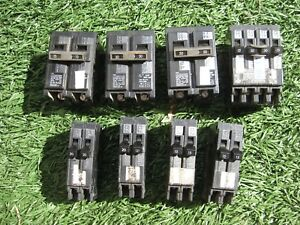Siemens Murray Ite Q2020 Circuit Breakers Lot Of 8 Pieces Free Priority Mail