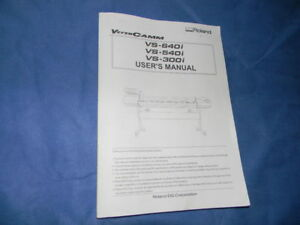 Roland Versacamm Vs 640i 540i 300i User s Manual