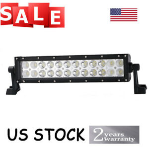 12 Inch Led Work Offroad Roof Rack Light Bar Combo Truck Pickup Jeep 4wd Utv Suv
