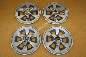 Original 1965 Corvette Spinner Hubcaps Wheel Covers 425 396 Fuel Injection 65