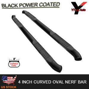 1999 2013 Chevy Silverado Crew Cab 4 Oval Curved Black Nerf Bars Running Boards