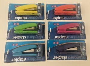 Bazic Standard 26 6 Stapler 500 Staples Included 6 Bright Colors