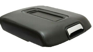Fit 15 19 Chevy Tahoe Yukon Black Vinyl Leather Center Console Lid Armrest Cover