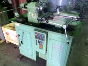 Kbc Hand Screw Machine With Bed Turret 5 c Collet Vertical Cut Off X slide