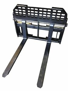New Heavy Duty Pallet Forks For Skid Steer With 2 X 4 X 48 Tines