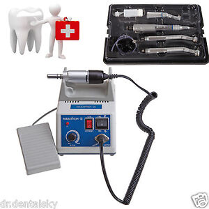 Micromotor Lab Marathon Polishing Polisher 2 High 1 Low Handpiece Kit 4h For Nsk