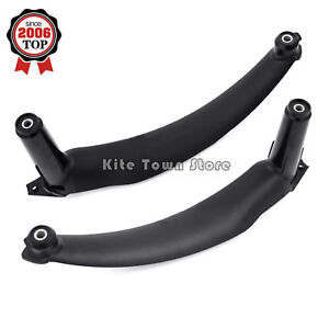 Pair Black Inner Door Panel Handle Pull Trim Cover Left Right For Bmw E70 X5