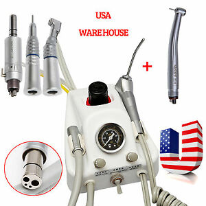 Portable Dental Air Turbine Unit 4h High Low Speed Handpiece Kit Fit Nsk Lxyj