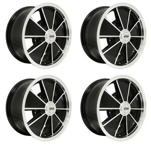 Brm Wheels Black With Polished Lip 17x7 5 On 205mm Vw Dunebuggy Vw