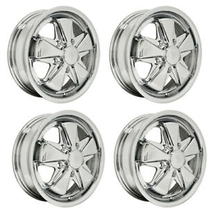 911 Alloy Wheels All Chrome 4 5 Wide 5 On 130mm Dunebuggy Vw