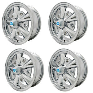 5 Rib Wheels All Chrome 5 5 Wide Fits 5 On 205mm Vw Dunebuggy