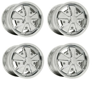 911 Alloy Wheels All Chrome 5 5 Wide 5 On 205mm Dunebuggy Vw
