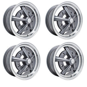 Raider Wheels Grey With Polished Lip 5 Wide 5 On 205mm Dunebuggy Vw