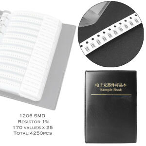 1206 1 Smd Chip Resistors Assortment Kit 170value Portable Assorted Sample Book