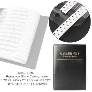 0603 Smd Resistor 170value Capacitor 55value Portable Assortment Sample Book