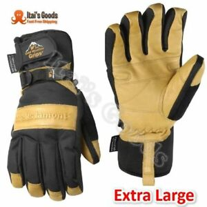 Mens Winter Gloves With Cowhide Palm Very Warm Waterproof Glove Insert Ex large