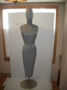 Custom Made Dress Form Mannequin With Cast Iron Stand