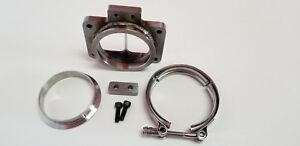 T6 Divided Turbo Inlet Flange To 3 5 Vband Adapter Kit Tab S400 S475 S464 Borg