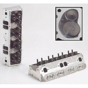 Brodix 1001001 Track 1 Assembled Aluminum Cylinder Head For Chevy 327 350 400