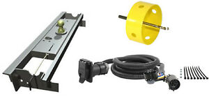 B W 2 5 16 Gooseneck Hitch W Hole Saw 7 Curt Wiring Kit For Ford F 150
