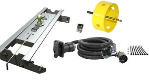 B W 2 5 16 Gooseneck Hitch W Hole Saw Curt Wiring Kit For Ford F 250 F 350