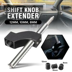 Universal Shift Knob Extender Extension Lever Gear Shifter Aluminium 12 10 8mm