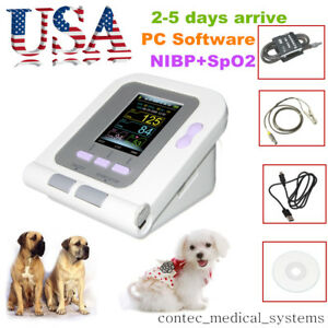 Contec08a Digital Veterinary Blood Pressure Monitor 6 11cm Cuff spo2 software us