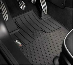 2 Pc Oem Mini Cooper Rubber Floor Mat Set Front Cooper S Logo 51472243908