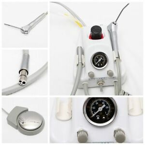Dental Portable Turbine Unit Work With Compressor 4 Hole Water Bottle Syringe