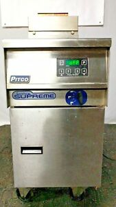 Pitco Frialator Gas Pasta Cooker Deep Fryer On Casters Model Sspg14 2014