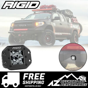 Rigid Industries D Series Pro Midnight Edition 3 Led Flush Mount Light Spot