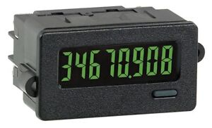 Red Lion Electronic Counter Number Of Digits 8 Backlit Yellow green Lcd
