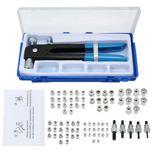 86pcs Threaded Nut Rivet Tool Riveter Rivnut Nutsert Gun Riveting Kit M3 m8
