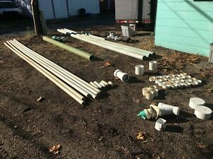 Large Lot Of 4 6 Pvc Sdr water Sewer Pipe Plumbing Fittings