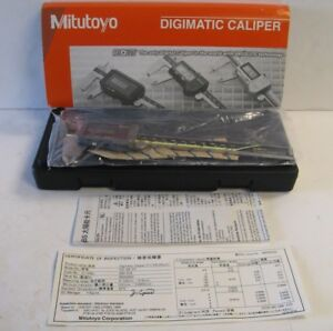 new Mitutoyo 500 474 Absolute Solar 6 Digital Caliper Cd s6 Ct
