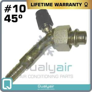 New Beadlock A C Fittings Female O Ring 10x45 Degree 10 Hose With Service Port