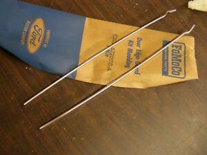 Nos Oem Ford 1962 1963 1964 Fairlane Accessory Door Edge Guards Kit Mouldings 2d