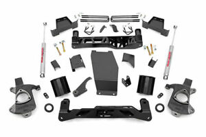 Rough Country 7 inch Lift Kit Alum stamped Steel Uca 14 17 Chevy 1500