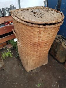 Huge Old Basket Or Hamper To Carry Cotton Or Grains