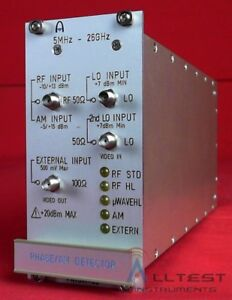 Aeroflex 9341 03 Phase Am Detector 5 Mhz 26 Ghz