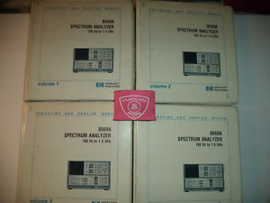 Hewlett Packard 8568a Set Vol 1 4 Operating And Service Manual