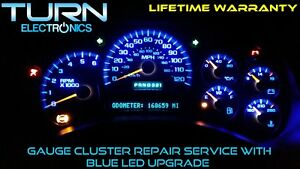 03 06 Gmc Sierra Speedometer Instrument Cluster Gauge Repair W Blue Led S