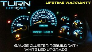 03 06 Chevy Silverado Speedometer Instrument Cluster Gauge Repair W White Led s