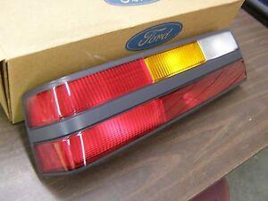 Nos Oem Ford 1985 1986 Mustang Tail Light Lamp Lens Assembly Lh Gt Lx 5 0