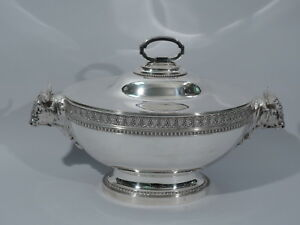 Tiffany Soup Tureen 878 Oxen American Sterling Silver C 1855