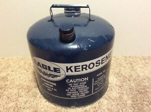 Eagle Blue Galvanized 5 Gal Metal Kerosene gas Can Chilton Rubbermaid Model 305