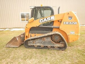 2014 Case Tr320 Track Loader Skid Steer With Cab Ac Heat High Flow 1838 Hours