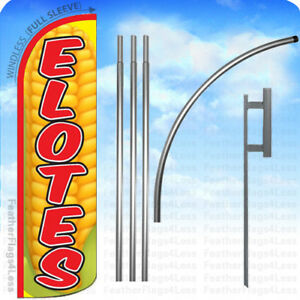 Elotes Windless Swooper Flag 15 Kit Feather Banner Sign Yq